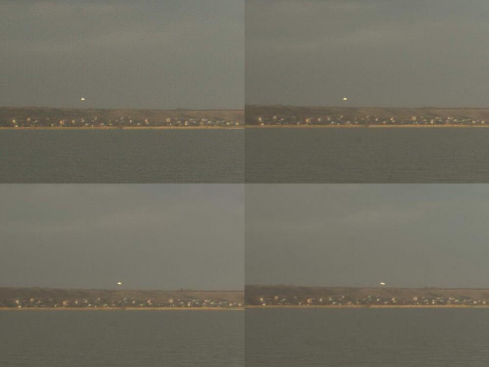 Фотоколаж. НЛО над Бердянськом 10.11.2009