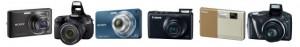 Різні фотоапарати на одній картинці