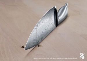 Креативна реклама ножів