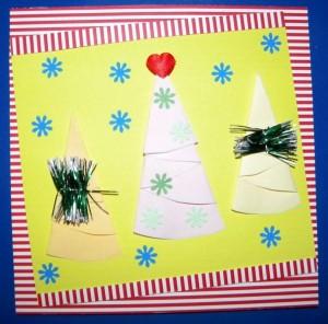 Власноруч виготовлена новорічна листівка