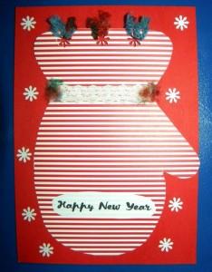 Новорічна листівка з підручних матеріалів