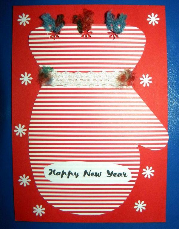 Новорічна листівка зроблена руками