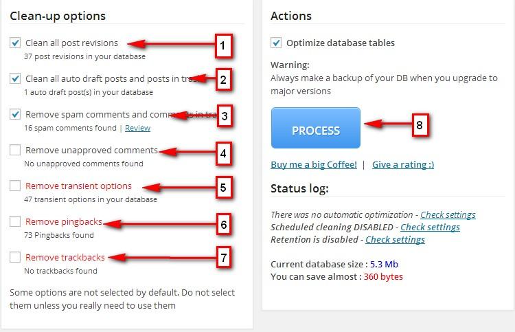 Плагін WP-Optimize опис і налаштування