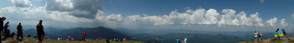 Панорама з Говерли, відпочинок в Карпатах
